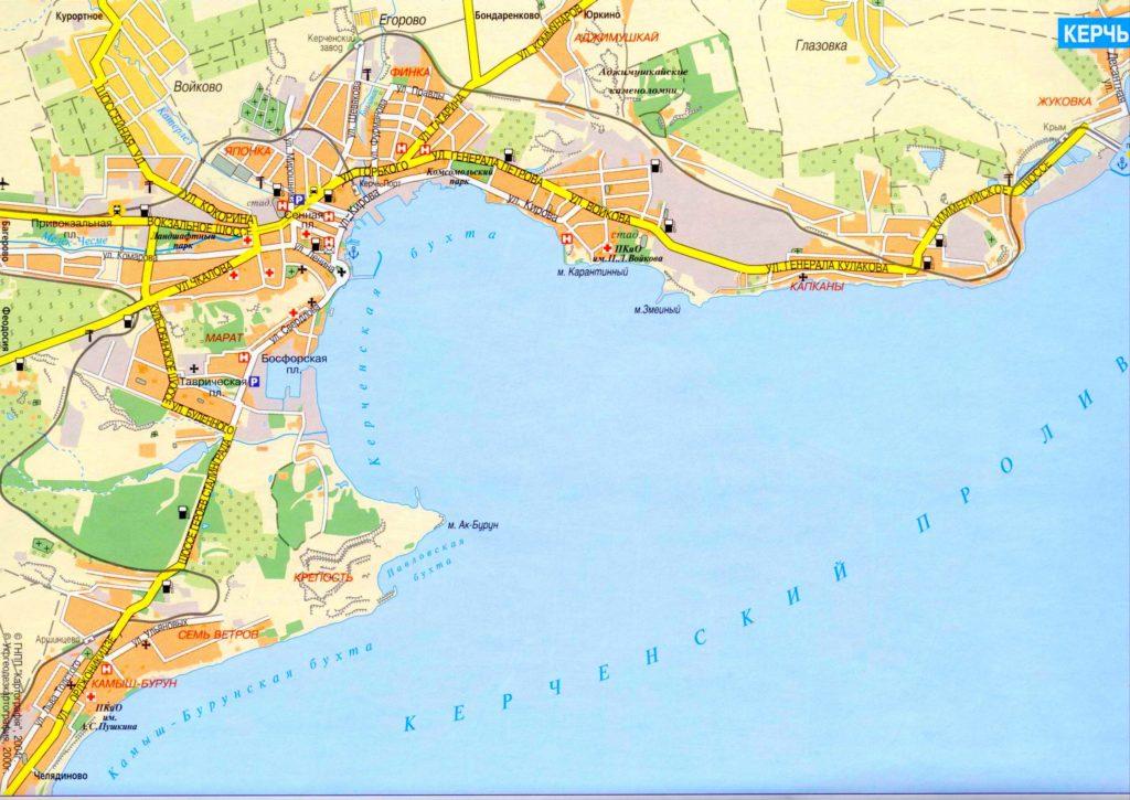 карта поселка Героевское